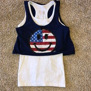 Justice double layered tank top